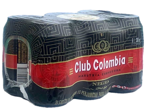 Six Pack Cerveza Club Colombia Negra- Lata 330 ml