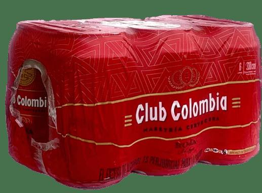 Six Pack Cerveza Club Colombia Roja- Lata 330 ml