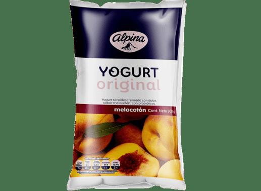 Yogurt Original Melocoton Bolsa 900gr