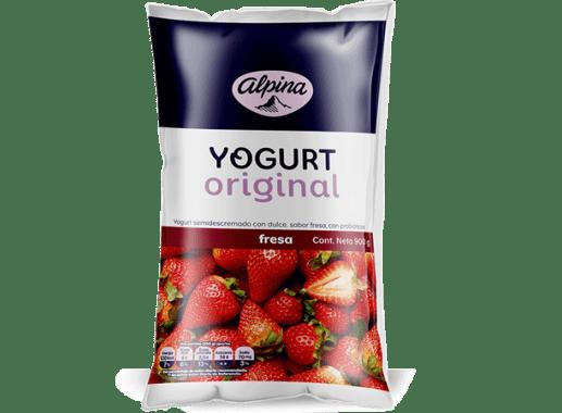 Yogurt Original Fresa Bolsa 900gr