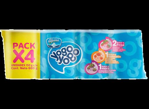 Yogo Yogo Multipack X 4 Unds Vaso X 150gr
