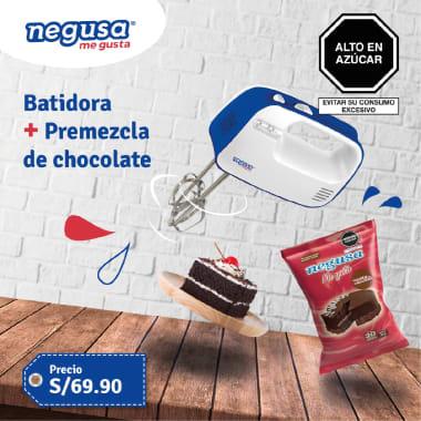 BATIDORA DE MANO + PREMEZCLA DE CHOCOLATE GRATIS