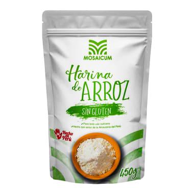HARINA DE ARROZ SIN GLUTEN MOSAICUM 450 g