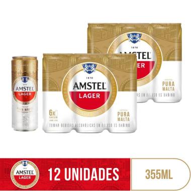 Combo Amstel 12 Latas 355ml
