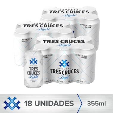Combo Tres Cruces Light 18 Latas 355ml
