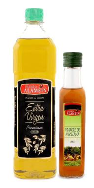 Pack Aceite Extra Virgen x 1000 cc - Premium + Vinagre de Manzana 200cc