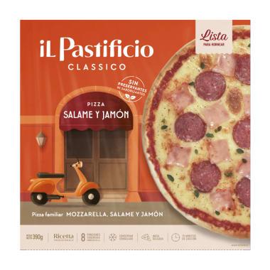 Pizza Salame y jamón