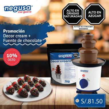 FUENTE DE CHOCOLATE + DECOR CREAM S/.81.5