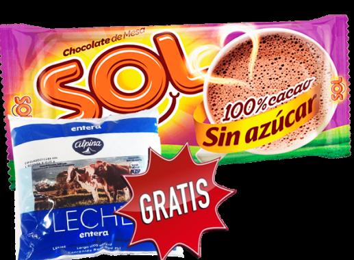 Chocolate Sol Sin  Azucar x 8 Unds x 125gr