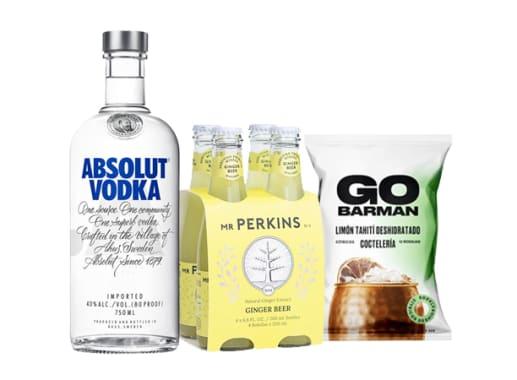 Vodka Absolute + Mr Perkkins + Go Barman Limon Thaiti