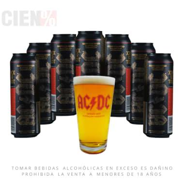 Combo Cerveza ACDC 7 Latas 568Ml + 1 Vaso