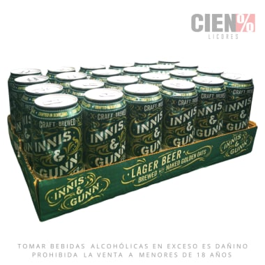 24 Pack Cerveza Innis Lager Lata + 2 Copas