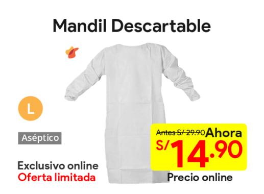 Mandil Descartable Blanco Talla L