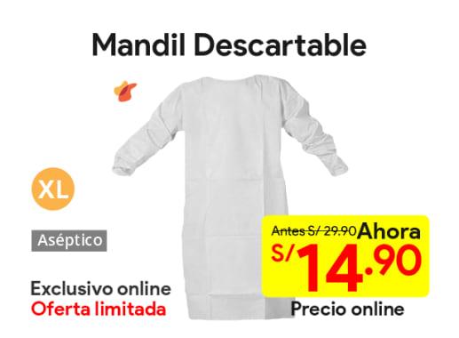 Mandil Descartable Blanco Talla XL