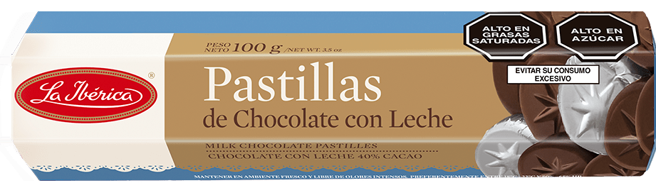 Pastillas de Chocolate con Leche La Iberica 100gr