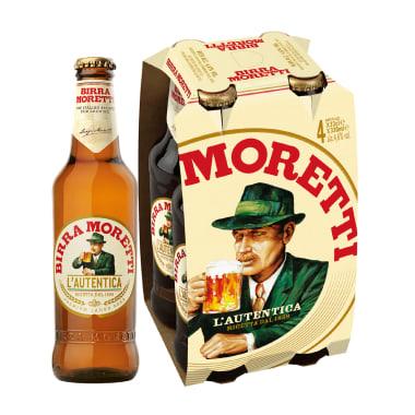 Cerveza Birra Moretti 4 Pack botella 330ml