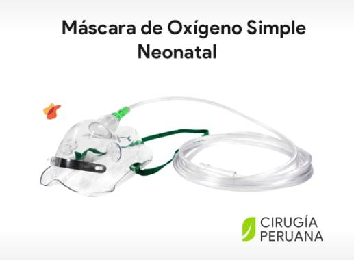 Máscara de Oxígeno Simple Neonatal