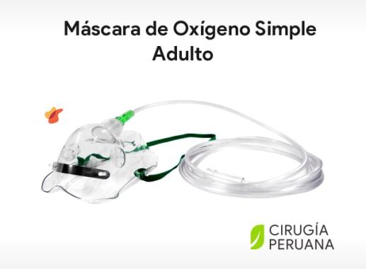 Máscara de Oxígeno Simple Adulto