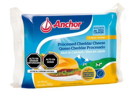 QUESO CHEDDAR PROCESADO - ANCHOR
