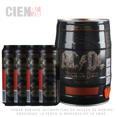 Barril ACDC 5L + 04 Latas 568 ml