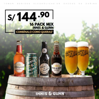 16 Pack Clásico Cerveza Innis