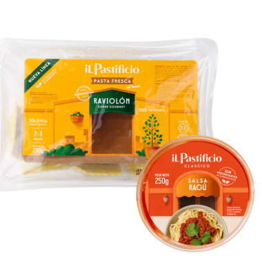 Raviolón Fresco de Carne (230gr) + Salsa Ragú (250gr)