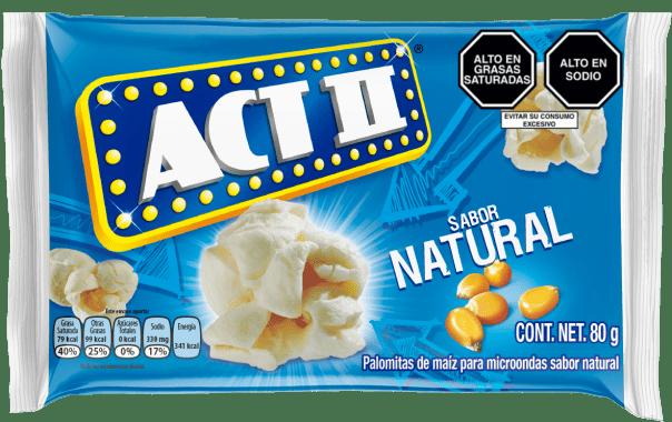 Act II Canchita para microondas Natural