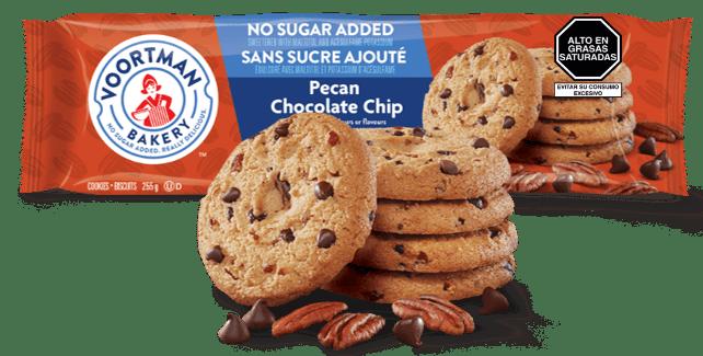 Voortman Pecan Chocolate Chip Sin Azúcar