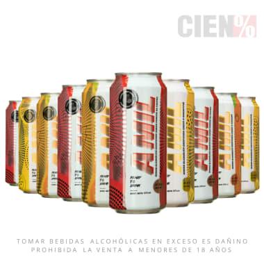 "Pack 10 Latas Mix Bebida Alcoholica Gasificada ""A MIL"""