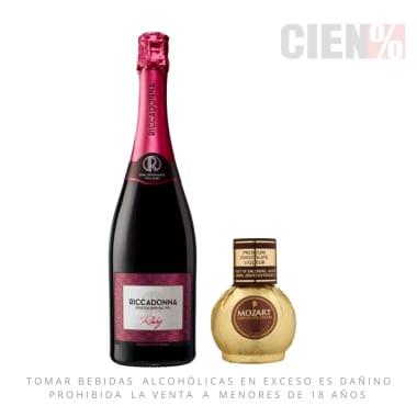 Espumante Riccadonna Ruby 750 ml + Mozart Mini 50 ml