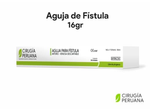 Aguja de Fistula para Hemodiálisis 16gr Cirugía Peruana