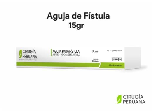 Aguja de fistula para hemodiálisis 15gr Cirugía Peruana