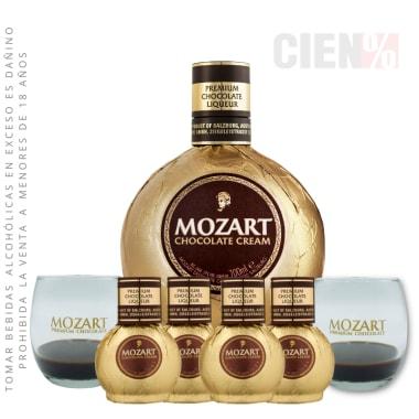 Pack Mozart 700 ml + 04 Mozart Mini 50 ml + 2 Copas Mozart