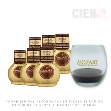 Pack 6 Mini Mozart 50 ml + 1 Copa Mozart
