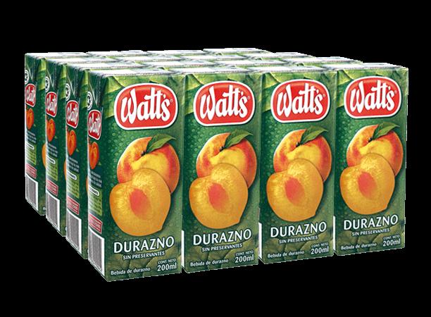 Néctar Durazno Watts Pack 6x200ml