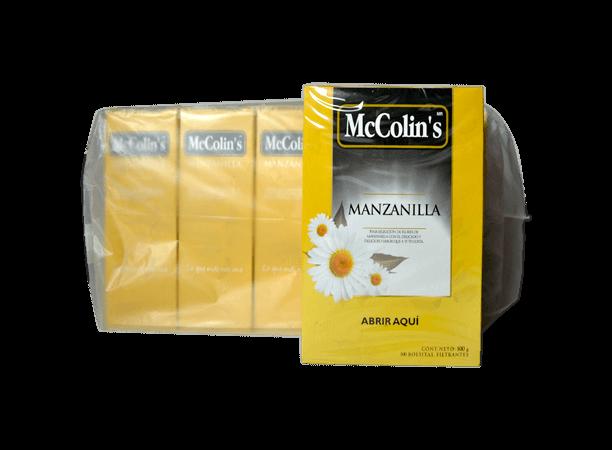 Manzanilla McColins Caja 100 Bolsas