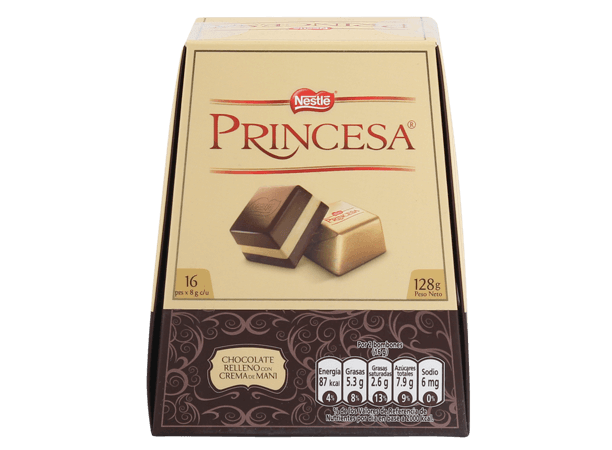 Chocolate Princesa Nestle Display 16x8g