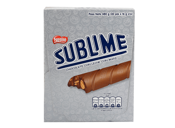 Chocolate Sublime Nestle Display 30x16g