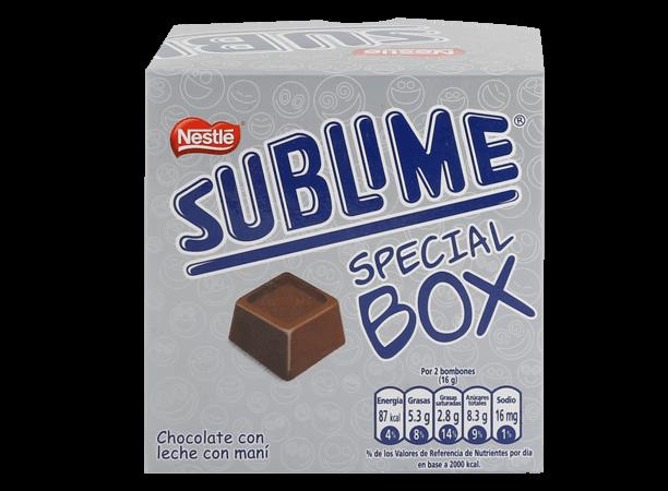Chocolate Sublime Bombones Box Nestle Display 20x8g