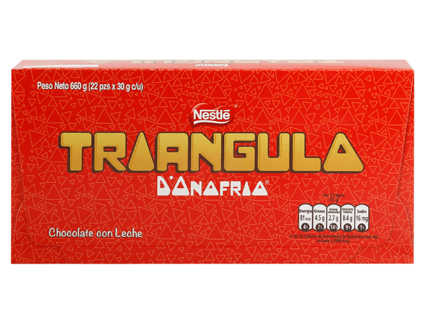 Chocolate Triángulo Clásico Nestle Display 22x30g