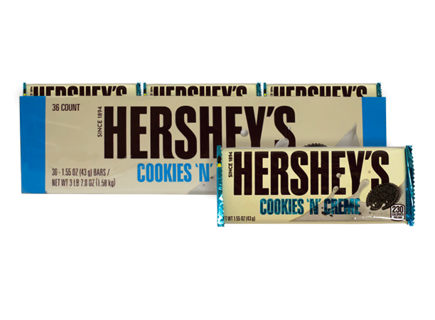 Chocolate Hersheys Cookies Cream Hersheys Display 36x43g