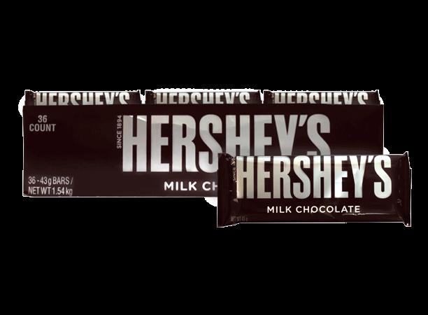 Chocolate Hersheys Milk Chocolate Hersheys Display 36x43g