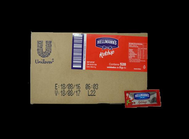 Ketchup Hellmanns Caja 528 x 8gr