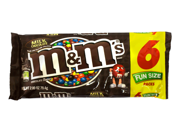 Chocolate M&M'S Chocolate Fun Size Pack Mars Paquete 6 unidades