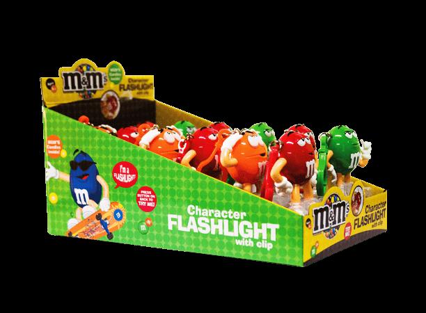 Chocolate M&M'S Character Flashlight Mars Display 12x13g