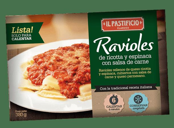 Comida Lista - Raviol Ricota y Espinaca c/ Salsa Carne