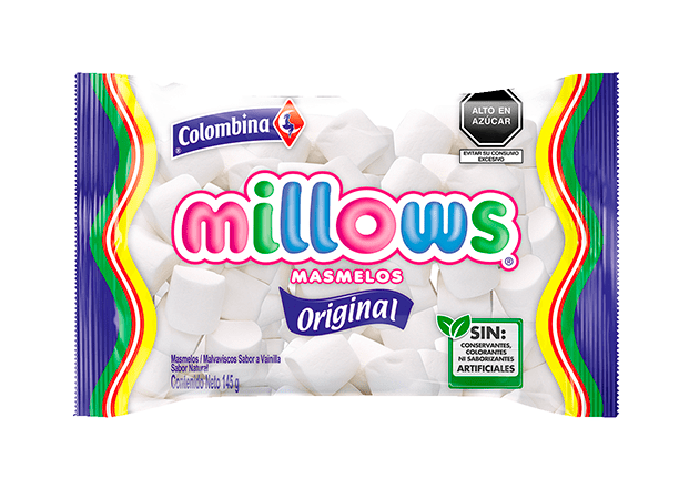 Millows Marshmallows Cilindro Blanco