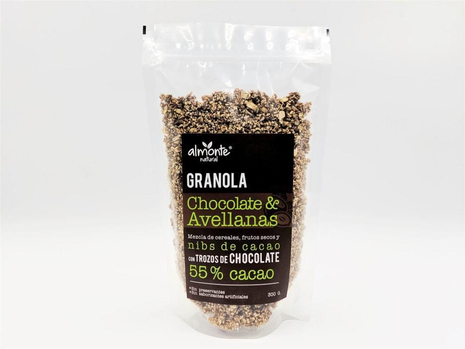 GRANOLA CHOCOLATE & AVELLANAS 300G ALMONTE
