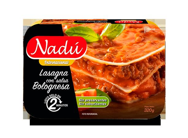 Lasagna con salsa bolognesa