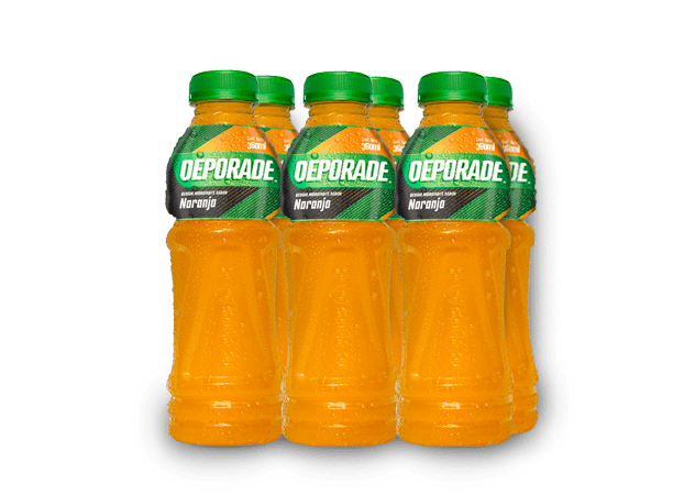 DEPORADE NARANJA PET NO RETORNABLE 360 ML 6